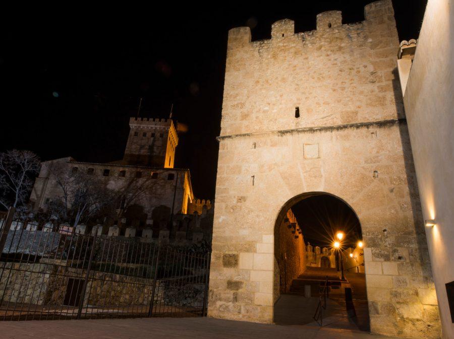 Portal Llíria nocturno 3