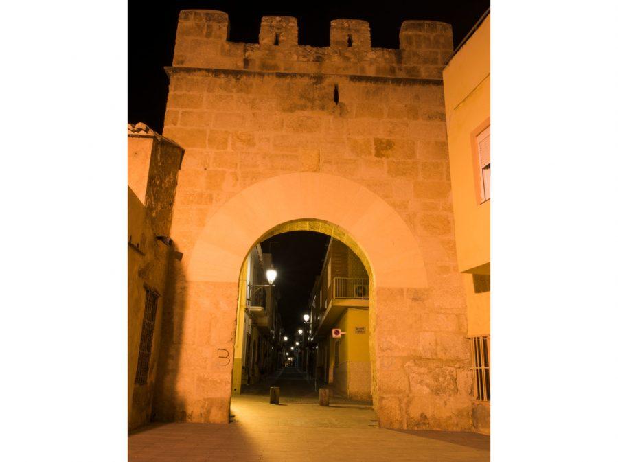 Portal de Valencia nocturno 2