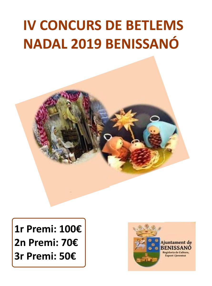IV Concurs Betlems Nadal 2019 a Benissanó