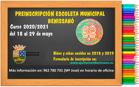 Preinscripción Escuela Infantil Municipal