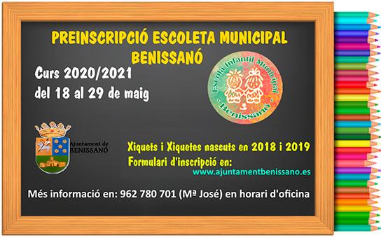Preinscripció Escoleta Infantil Municipal